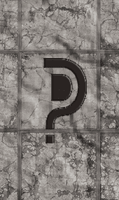 question mark concrete