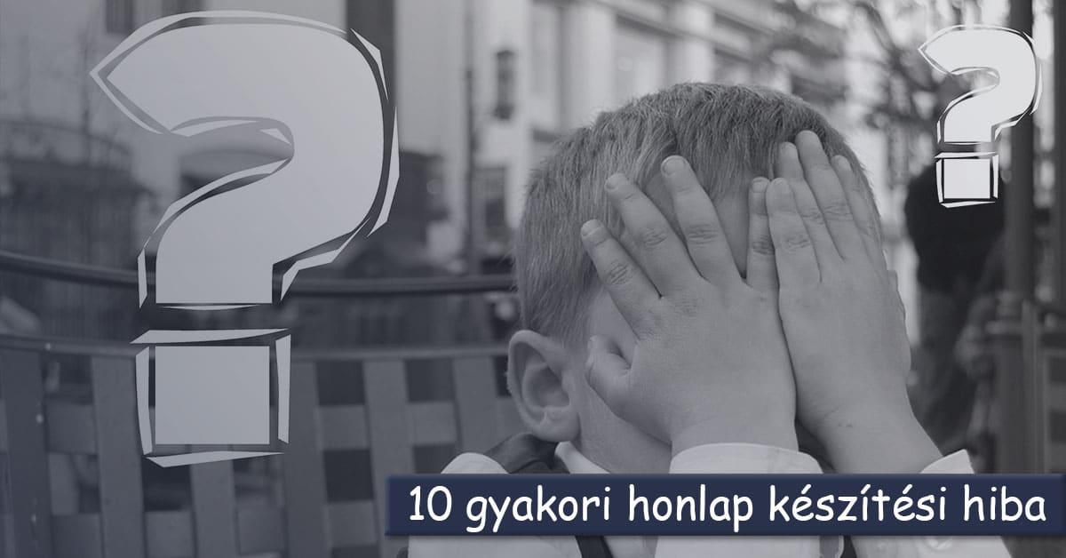 10 gyakori honlap készítési hiba